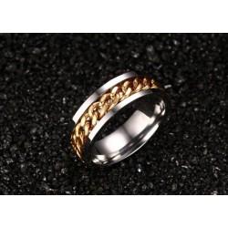 páros karikagyűrű Arany láncos női gyűrű nemesacélból