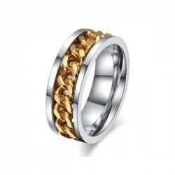Arany láncos női nemesacél gyűrű