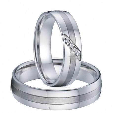 páros karikagyűrű 3 sávos női nemesacél karikagyűrű