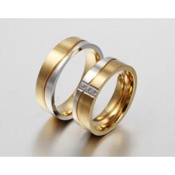 páros karikagyűrű Férfi nemesacél karikagyűrű arany-ezüst