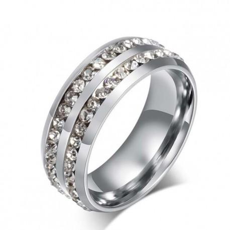 páros karikagyűrű CZ kristályokkal díszített női gyűrű