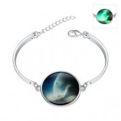 Foszforeszkáló karkötő ezüst bevonattal - Galaxis