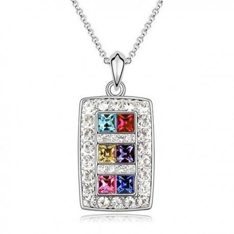 kristályos nyaklánc Színes kristályos elegáns nyaklánc