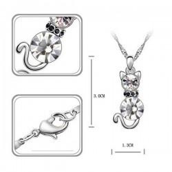 kristályos nyaklánc Fehér kristályos cica nyaklánc