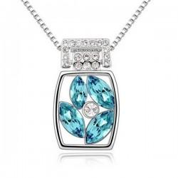Kék kristályos elegáns nyaklánc