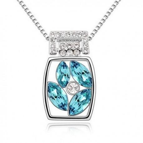 kristályos nyaklánc Kék kristályos elegáns nyaklánc