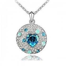 Kék kristályos kör nyaklánc