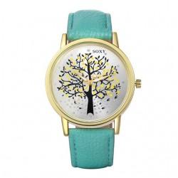 karóra óra Női divatóra őszi fa mintával - türkiz