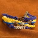bőr karkötő Réteges műbőr karkötő - Sea Love