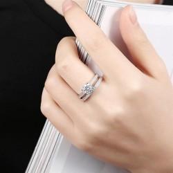 ezüst gyűrű 925 sterling ezüst, cirkónia köves eljegyzési gyűrű