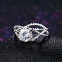 ezüst gyűrű Kristályszem, 925 sterling ezüst gyűrű cirkóniával