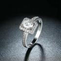 ezüst gyűrű 925 sterling ezüst eljegyzési gyűrű cirkónia
