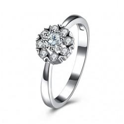 ezüst gyűrű 925 sterling ezüst eljegyzési gyűrű hófehér