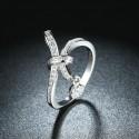 ezüst gyűrű 925 sterling ezüst gyűrű hófehér cirkóniával -