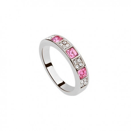 kristályos gyűrű Egyedi kövekkel díszített elegáns gyűrű