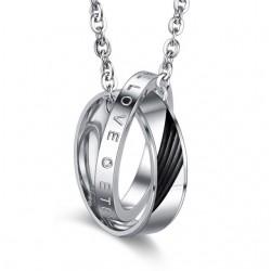 páros nyaklánc szerelmeseknek Feliratos páros gyűrű medál