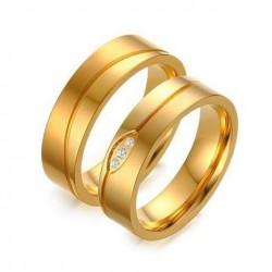 Aranyozott, férfi titánium karikagyűrű
