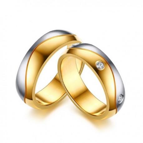 páros karikagyűrű Kéttónusú, férfi nemesacél karikagyűrű