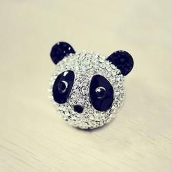 kristályos gyűrű Kristályos panda maci gyűrű