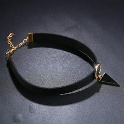 bizsu nyaklánc Choker nyaklánc háromszög medállal