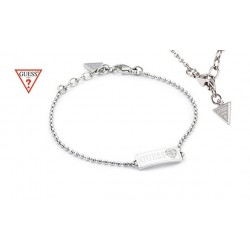 kristályos karkötő GUESS szív mintás nemesacél karkötő