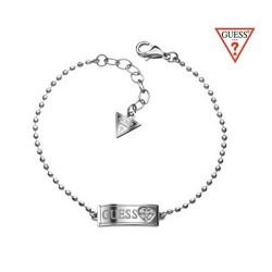 GUESS szív mintás nemesacél karkötő, Swarovski kristályokkal