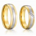 páros karikagyűrű 3 sávos, nemesacél férfi karikagyűrű arany
