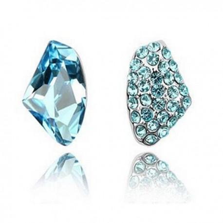 kristályos fülbevaló Kék kristályos elegáns fülbevaló