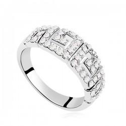 Görög mintás, apró köves gyűrű
