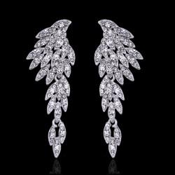esküvői fülbevaló Különleges, angyalszárny formájú menyasszonyi