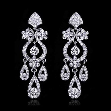esküvői fülbevaló Luxus menyasszonyi fülbevaló