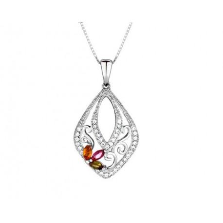 ezüst nyaklánc Swarovski kristályos ezüst medál cirkónia