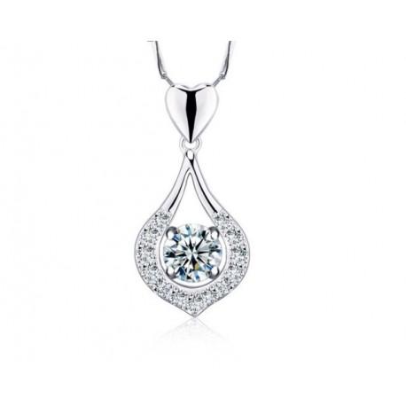 ezüst nyaklánc Ezüstkristály medál cirkóniával