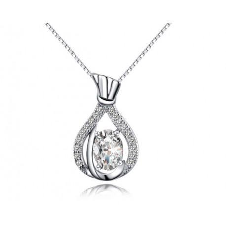 ezüst nyaklánc Ezüst talizmán medál cirkóniával
