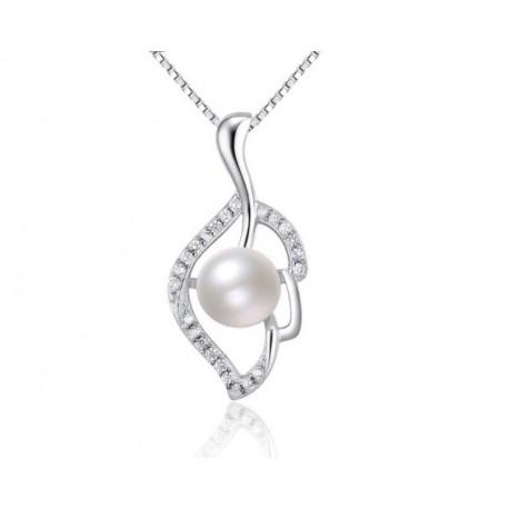 Ezüst levél medál gyönggyel ezüst nyaklánc webáruház 54b2b3d727