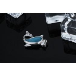 ezüst nyaklánc Ezüst delfin medál