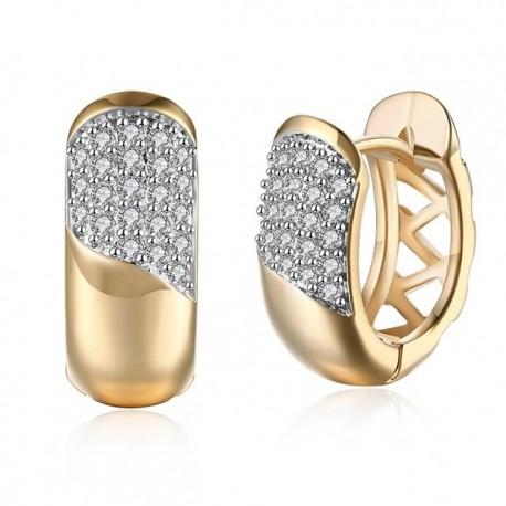 kristályos fülbevaló Apró kristályos, arany bevonatú karika