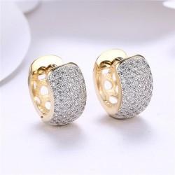 kristályos fülbevaló Karika fülbevaló apró kristályokkal, arany