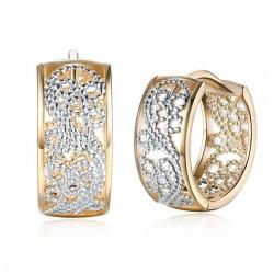 kristályos fülbevaló Áttört mintás karika fülbevaló, arany