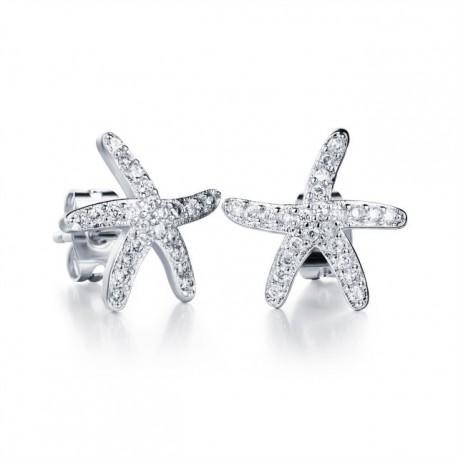 kristályos fülbevaló Swarovski kristályos tengeri csillag