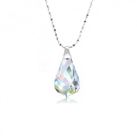 kristályos nyaklánc Szivárvány Swarovski csepp medál ezüst