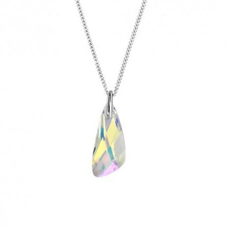 kristályos nyaklánc Swarovski kristályos csepp medál nemesacél