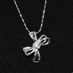 kristályos nyaklánc Masni ezüst medál nyaklánccal