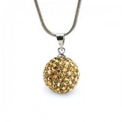 kristályos nyaklánc Arany kristályos shamballa nyaklánc