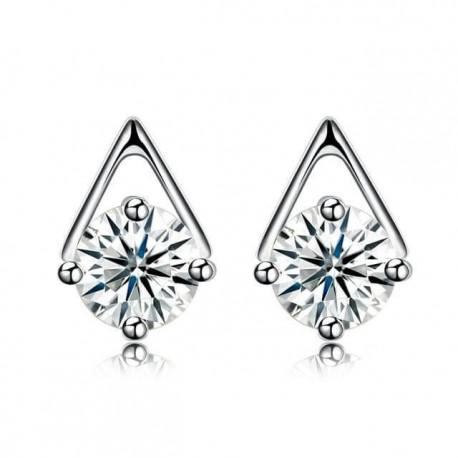 ezüst fülbevaló Háromszög ezüst fülbevaló cirkóniával