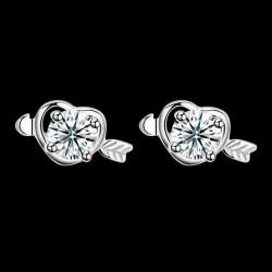 ezüst fülbevaló Szerelem ezüst fülbevaló cirkóniával