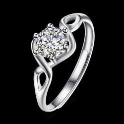 ezüst gyűrű Kristályszem, állítható ezüst gyűrű cirkóniával