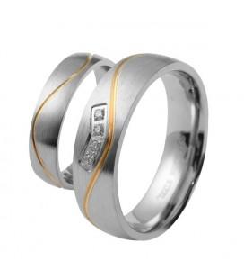Arany sávos női nemesacél karikagyűrű