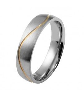 páros karikagyűrű Arany sávos férfi karikagyűrű nemesacélból