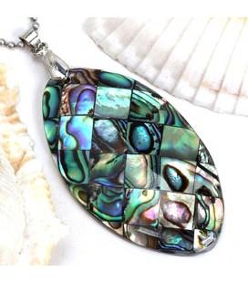 Abalone kagyló medál nemesacél nyakláncon